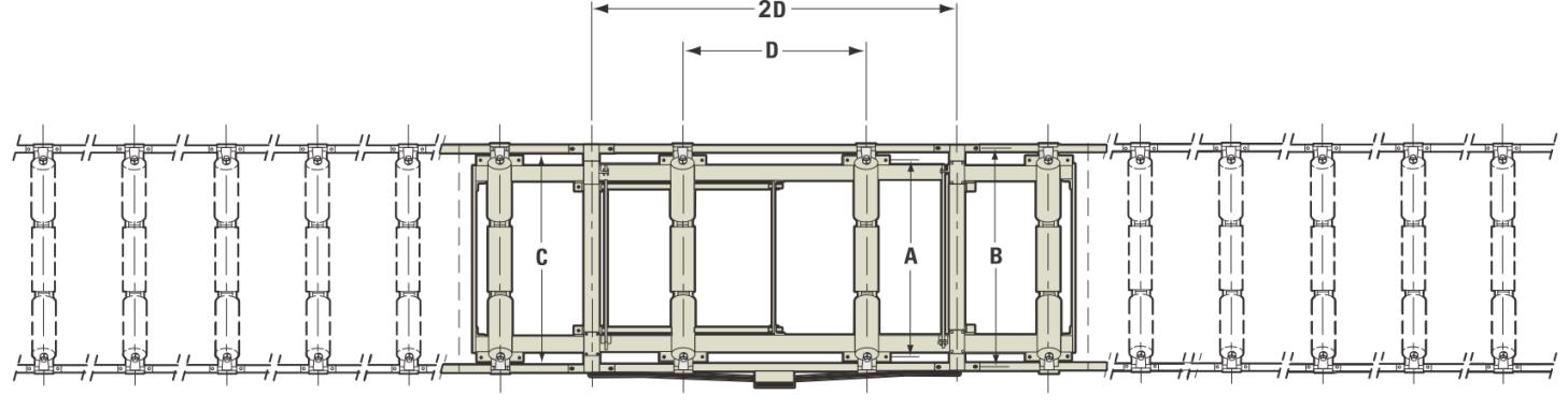 ICS-14系列电子皮带秤尺寸图