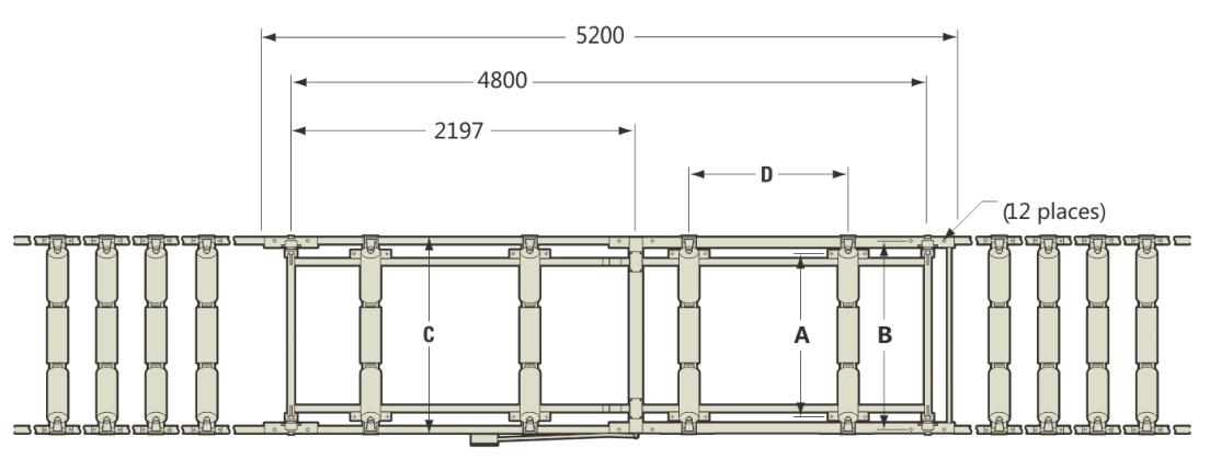 ICS-17A电子皮带秤尺寸图