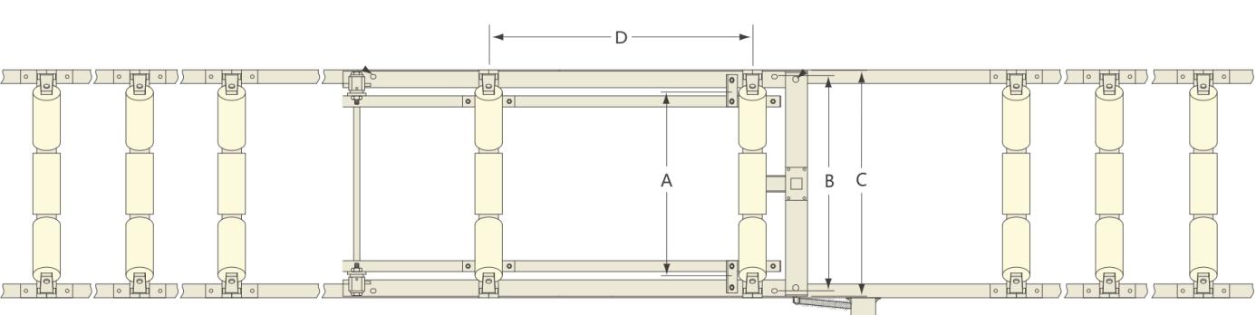 ICS-20系列电子皮带秤尺寸图