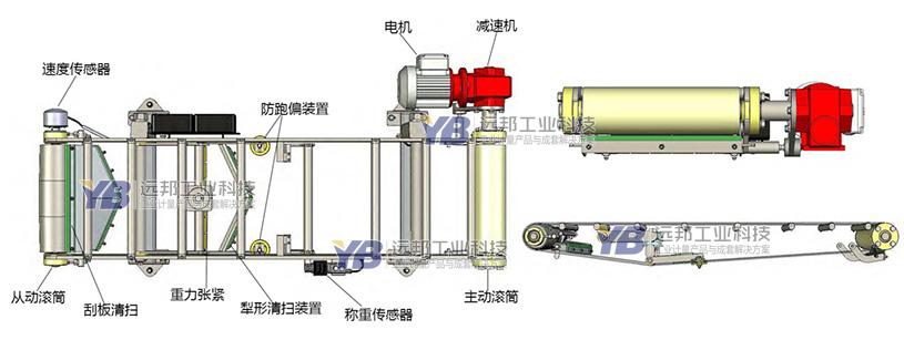 YB-VX微型皮带秤秤体